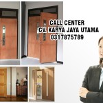 pintu solid wood panel murah