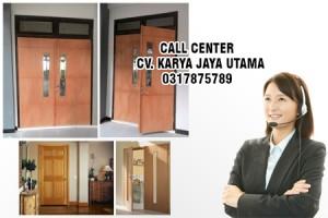 pintu solid wood panel murah